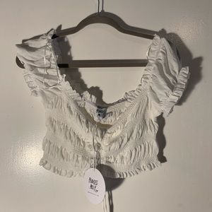 New With Tags Crop Ruched Top